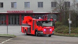 preview picture of video 'Einsatzfahrt DLK 23/12 BF Karlsruhe FW West'