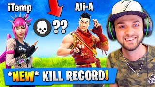 OUR MOST KILLS *EVER* in Fortnite: Battle Royale! (NEW RECORD)