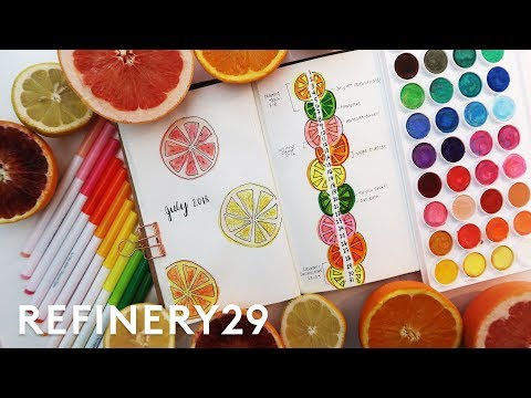 Plan With Me - July Bullet Journal Update | Lucie Fink Vlogs | Refinery29