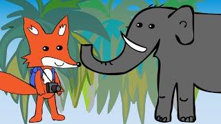 Развивающий мультик про животных. Лисенок Леша в Африке. Звуки животных