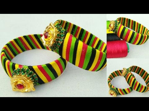 How To Make Silk Thread Bangles  // DIY // How To Make Designer Silk Thread Bangles // Latest