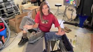 DIY stuck telescopic luggage handle fix