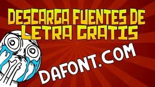Como Descargar Fuentes De Letra   Dafont.Com
