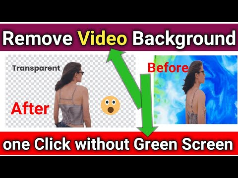 Video Background Remove Single Click | Change Video Background without Green Screen | UnScreen