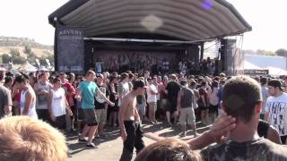The Acacia Strain - The Hills have Eyes live Warped Tour 2011 San Diego HD