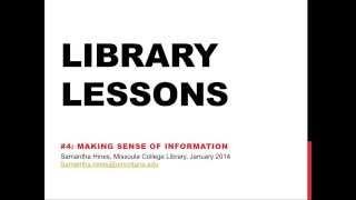 Making Sense Of Information