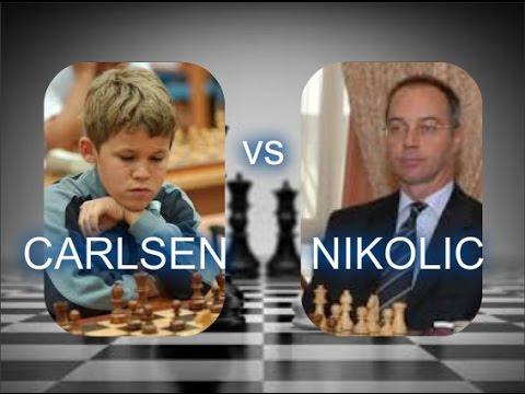 Mladi Carlsen koristi priliku za napad - CARLSEN vs NIKOLIC - Francuska odb. # 614