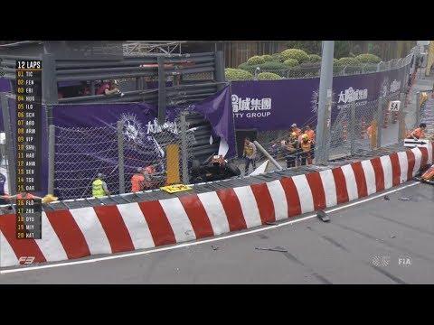 FIA Formula 3 World Cup 2018. Main Race Macau Grand Prix. Restart | Sophia Flörsch Horror Crash