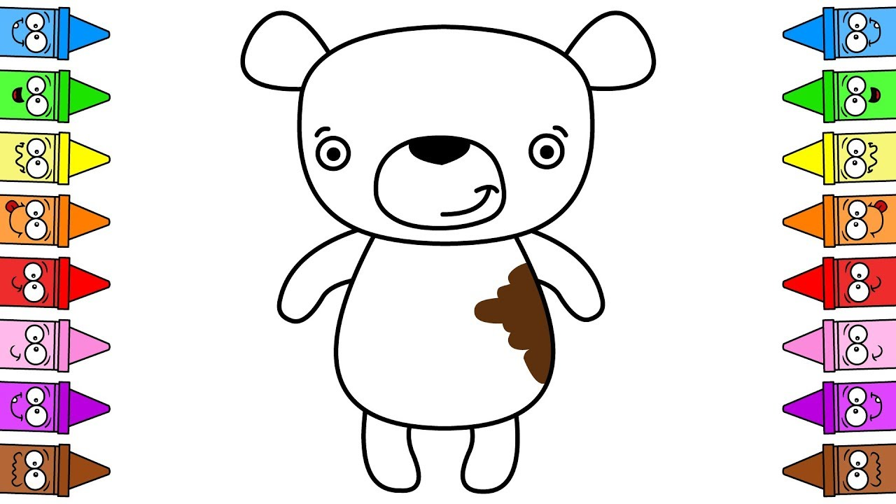Teddy Bear Drawing Easy Teddy Bear Drawing For Kids Drawing Toys