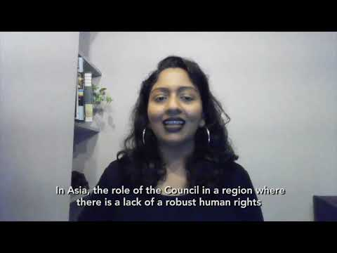 The UN Human Rights Council: why does it matter? (Shamini Darshni Kaliemuthu - Thailand)
