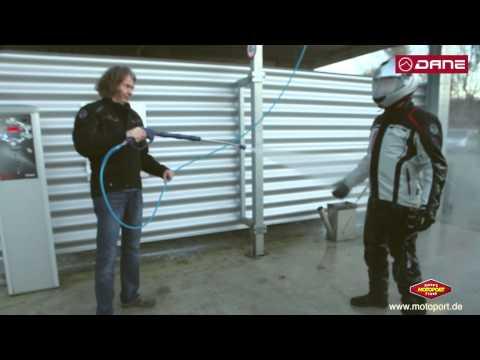 DANE Motorradbekleidung GORE-TEX® Test Wasserdichtigkeit