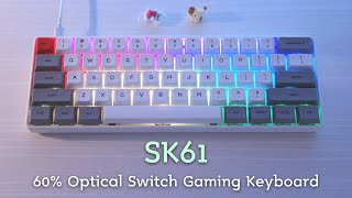 SK61 60% Optical Switch Gaming Keyboard Unboxing & Typing Sounds
