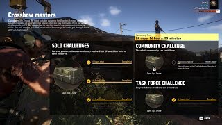 Ghost Recon Wildlands: Crossbow Masters Solo Challenge 3 Finish Approximately in 3 Minutes Using C4!