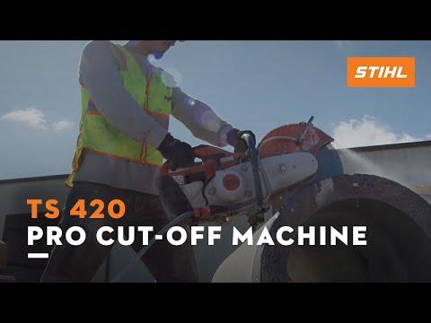 Stihl TS 420 Cutquik in Kerrville, Texas - Video 1