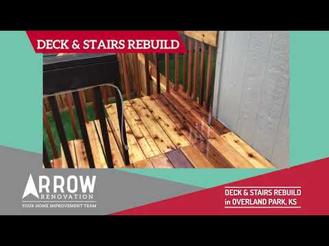 Deck and Stairs Rebuild in Overland Park, KS