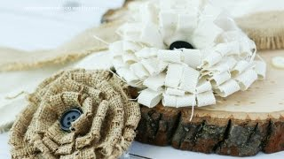 How To Make Burlap And Canvas Shabby Looped Flowers