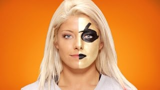 Alexa Bliss morphs into Goldust: WWE Halloween Makeup Tutorial
