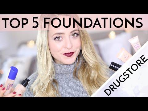 Top Five DRUGSTORE Foundations! | Fleur De Force
