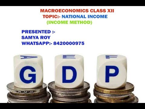 National Income  Macroeconomics  Class XII
