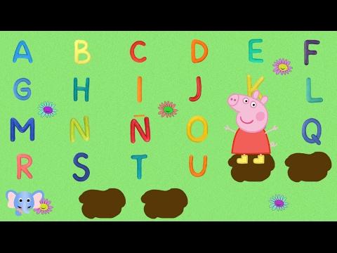 Aprende el abecedario con Peppa Pig   Learn alphabet