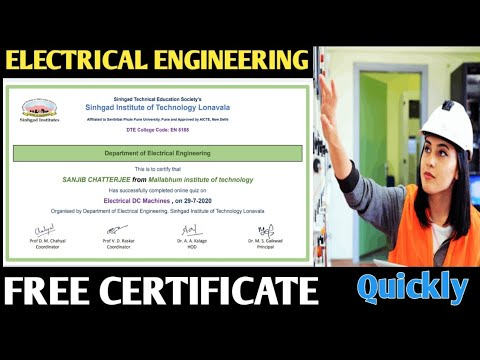 Free Online Electrical Engineering Course with Certificate 2020 ...