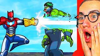 Reacting To SUPERHERO FUSION FIGHT ANIMATIONS! (Ironman, Hulk, Spiderman, Batman)