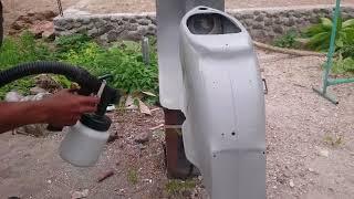 CAT- PASANG POXY Mengunakan Paint Sprayer Gun ZOOM  (SIP) Joe Tony