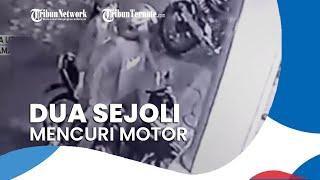 Detik-detik Dua Sejoli Mencuri Motor di Halaman Masjid di Medan, Pengurus Masjid: Sudah 5 Kali