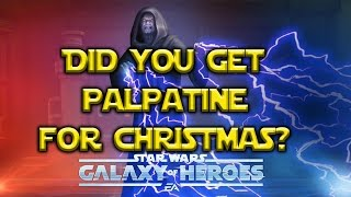 Star Wars: Galaxy Of Heroes - Palpatine For Christmas! Shock Explained