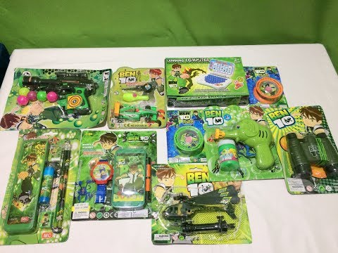 BEN 10 TOY COLLECTION 2019 BUBBLE MACHINE GUN,BEN YOYO ,BEN STATIONER BOX,BEN MOBILE  II TOK TOK TV
