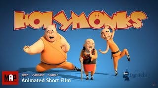 Funny CGI 3d Animated Short Film ** HOLY MONKS ** Family Animation Cartoon for Kids by Digital Rebel