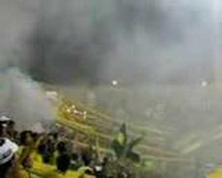 """""""Real Cartagena vs Yu ni oh El Verdadero aguante"""" Barra: Rebelión Auriverde Norte • Club: Real Cartagena"""