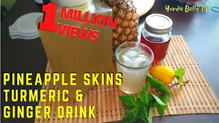 🔴Traditional Jamaican Pineapple, Ginger Drink with Turmeric