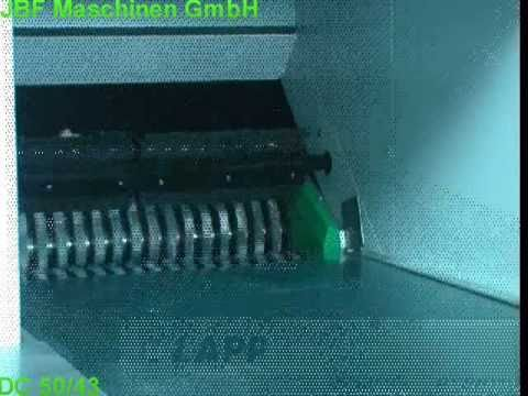 Video of the JBF DC50-43 Direct Drive 11.8x55mm Data Cut Shredder Shredder