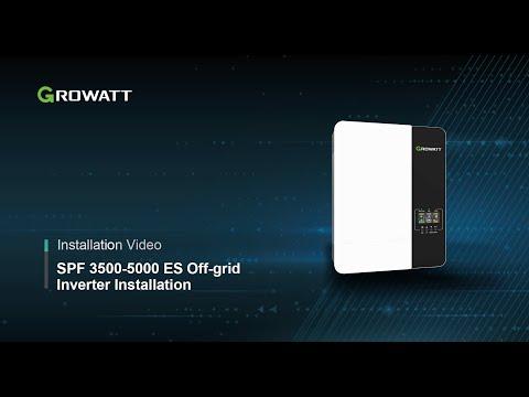 Growatt SPF 5000 ES Off-grid Inverter Installation Introduction
