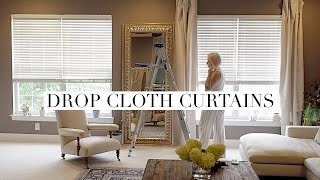 Cheap + Easy Drop Cloth Curtains