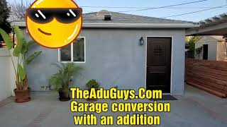 Garage Conversion With A 11x15 Addition