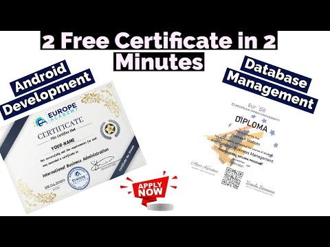 2 Free Certificate In 2 Minutes   Database Management