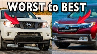 Ranked Worst To Best: 2019 Mid-Size Trucks