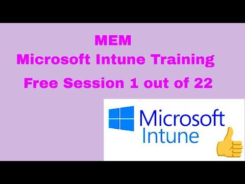 MEM Microsoft Intune Training - YouTube
