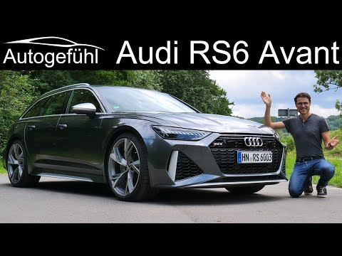 New Audi RS6 Avant FULL REVIEW performance estate 2020 with Autobahn driving - Autogefühl