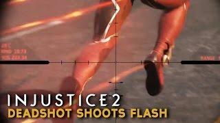 Injustice 2 - Deadshot shoots Flash