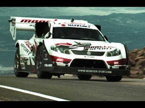 Pikes Peak Hill Climb with a Monster Suzuki Rally Car