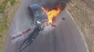 Очень жестокие и страшные мото аварии и ДТП | Moto crash compilation