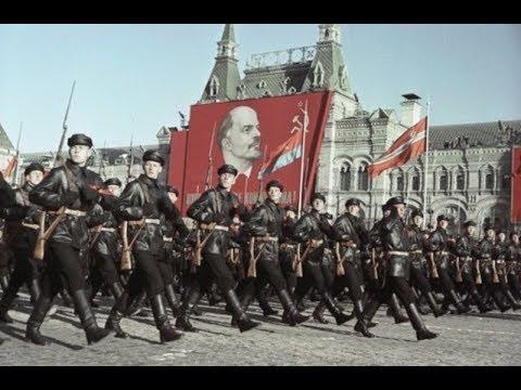 Военный парад 7 ноября 1967 года видео