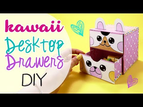 DIY Kawaii desktop drawers - Cassettiera da scrivania!