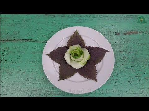 How to make a Rose flower from Cucumber