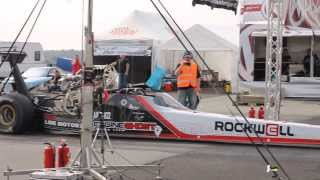 preview picture of video '2400PS Engine Ghost Dragster Rothenburg Test & Tune 31.08.2013'