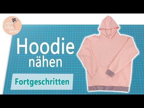 Hoodie - Kapuzenpullover nähen - ohne Schnittmuster