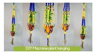 How To Make Macrame Plant Hangers | Macrame Art | Easy Diy Tutorial In Hindi